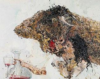 der mensch in der sammlung jean-claude volot © Fabian Cerredo, Minotaure offrant son coeur à sa belle, 2003 © museum gugging