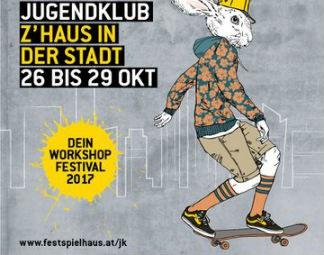 Jugendklub #9 von 26. bis 29 Oktober 2017 @ Festspielhaus St. Pölten, frei:raum St. Pölten, Jugendzentrum Steppenwolf, LAMES Sonnenpark, Jahn-Turnhalle und AK Niederösterreich